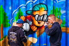 I like cola too! (peter manintveld) Tags: fujixt1 xt1 aurorahdrpro fuji fujixf55200mmf3548rlmois fujifilm grafitti graffity kleuren colours