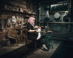 The Dressmaker (Tortured Mind) Tags: 2470mmf28 54 lapinlahti pohjoissavo suomi d800 dark doll dslr fi fineart gothicart loneliness macabre nikkor nikon pink portrait sadness surreal woman zoom