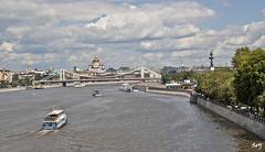 Río Moscova. (svet.llum) Tags: río paisaje agua ciudad moscú puente verano arquitectura barco catedral monumento rusia
