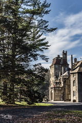 BucksCountyFonthill_Nov162017_0127 (Roni Chastain Photography) Tags: fonthill mercer museum doylestown pa castle sky clouds landscape fall