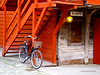 Hanseatic City - Bergen (Norway) (Placido De Cervo) Tags: hanseatic bergen norway bryggen norvegia caseinlegno wood arancio bicicletta svensgarden