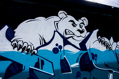 Southside Polar Bear (LachMH) Tags: canon 700d rebel t5i 1855mm lens canberra lanyon polar bear graffiti snow ice cold southside art street wall building design painting spray paint frozen freezing freeze conder