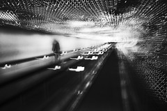 crazy world (Lamson/Ng) Tags: crazyworld blackandwhite dc urbanabstract abstract light chaos confusion lamson monochrome leo walkway sp
