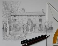 Farmhouse Portrait Commission WiP