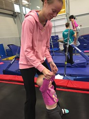 """Dani Bounces with Mommy in Her Gym Kittens Gymnastics Class • <a style=""""font-size:0.8em;"""" href=""""http://www.flickr.com/photos/109120354@N07/26600639599/"""" target=""""_blank"""">View on Flickr</a>"""
