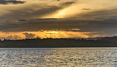 Golden Hour Sunrise Waterscape (Merrillie) Tags: daybreak woywoy gold color golden overcasst cloudy water coast dawn beauty landscape weather newsouthwales clouds bay nsw brisbanewater light scenery beautiful scene nature scenic coastal sky waterscape view centralcoast sunrise australia