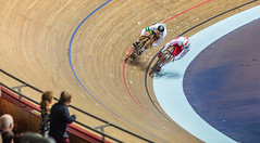 Grimace (Meredith Lewis) Tags: manchester mateuszrudyk greatermanchester england gb greatbritain velodrome cyclist britain sprint bicycles unitedkingdom bicycle matthewglaetzer 2017tissotucitrackcyclingworldcupmanchester cycling europe uk nationalcyclingcentre