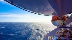 Back Home (johnfranky_t) Tags: nave mare sardegna italia scialuppe onde johnfranky t tirreno s6 samsung arancione orange sea s ship wave blu blue elica cielo