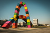 Container arches 500 years Le Havre
