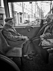One day in Munich (Timo Kozlowski) Tags: bavaria bayern münchen munich street streetogs huaweip9 monochrome snapseed mvg publictransportation bus