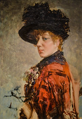 "Giovanni Boldini - Woman in Red, 1885 at New Orleans Museum of Art - New Orleans LA (mbell1975) Tags: neworleans louisiana unitedstates us giovanni boldini woman red 1885 new orleans museum art la museo musée musee muzeum museu musum müze museet finearts fine arts gallery gallerie beauxarts beaux galleria painting noma nola ""la nouvelleorléans"" nouvelleorléans nueva nuova impression impressionist impressionism italian portrait"