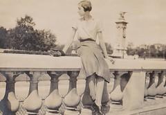 Near Les Invalides France 1933 (Bury Gardener) Tags: blackandwhite bw oldies old vintage france paris 1930s 1933 scans snaps people folks europe