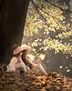 Sisters (olgafler) Tags: girl sister autumn together dress whitedress dream leaves yellow kids девочка платье пальто шапка шарф sun свет листва солнце light