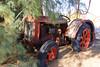 Tractor at Desert Center CA (Krister Karlsmoen) Tags: kaiser steel