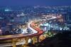 沙鹿夜景 (Cheng Yang, Chen) Tags: 台中 沙鹿 夜景 車軌 特一 taiwan taichung night cartrails