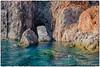 Salina . baia di Pollara ... (miriam ulivi - OFF /ON) Tags: miriamulivi nikond7200 italia sicilia sicily isoleeolie salina baiadipollara mare sea scoglera cliff blue nature onde waves