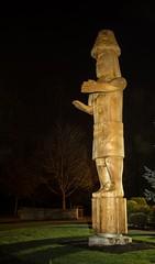 DSC_8157 (Copy) (pandjt) Tags: chilliwack bc britishcolumbia stólō stolo yakweakwioose firstnation yakweakwioosefirstnation terryhorne chiefterryhorne welcomefigures welcome sculpture carving publicart nightphotography longexposure lightpainting