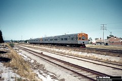 2811 Four Car ADL ADC set passing Ashfield 29 January 1982 (RailWA) Tags: railwa philmelling westrail 1982 four car adl adc set passing ashfield