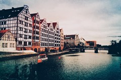 Gdansk river (Gustav Edgar) Tags: city oldcity water waterfront travelling travel motlawa river poland gdansk