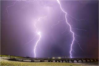 Lightning over Woodman Point