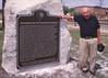 Bill Schlosser with Mendota IL Marker 2001 (Ray Tutaj Jr) Tags: bill schlosser mendota union depot railroad museum historical marker
