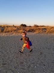 Heading back (quinn.anya) Tags: sam preschooler superman batman sand sunset edgartown marthasvineyard