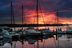Oakland Harbor (Ash Bowie) Tags: nikon d750 oakland california sunset water bay boats 50mm nikkor eseries