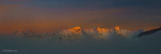 Préalpes fribourgoises et brouillard (Switzerland)