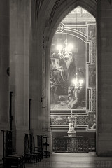Heavenly Music ~ Paris, France (Christopher Mark Perez) Tags: musicalinstrument music cathedral catholicchurch bw monochrome blackandwhite