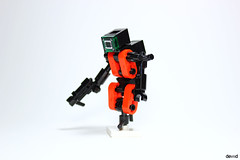 Dr-One (Devid VII) Tags: lego moc military mech devid vii mecha minifigs war troopers crew foitsop wars trooper detail details drone droneuary rebel district soldier dr one
