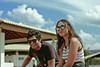 In Atibaia (TheJennire) Tags: photography fotografia foto photo canon camera camara colours colores cores light luz young tumblr indie teen people portrait siblings brother sister 50mm 2017 aitbaia sp brasil summer happy smile hair sunglasses fashion sky clouds sunnyday sunday