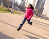 Some Days Are Better Than Others (kirstiecat) Tags: chicago girl child shadows run jump better exciting skyline city urban cityscape