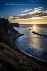 Man O'War Sea Reflections (ed027) Tags: ifttt 500px yellow sky sunrise morning sea sunset reflection nature beach blue clouds coast waves trail rocks beautiful england cliff bay chalk colourful early natural light cove historic view from above jurassic south man owar cloudscaoe
