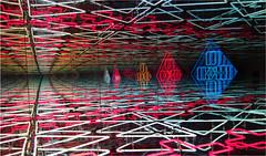 3D Neon Light Art (Mary Faith.) Tags: 3d pattern lines angles neon light distance
