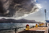 The Storm it's coming... (Stelios Peros) Tags: cloudsstormssunsetssunrises storm clouds leros sea seashore autumn