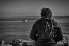 l'attesa (maurizio.s.) Tags: barca boat sea water waiting attesa woman fisherman pesca pescatore nikon d700 nikon50mm18 50mm18 50mm18d fishing donna