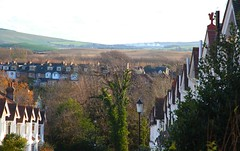 """Street with a View"" (Adam Swaine) Tags: sussex eastsussex southdowns towns lewes houses buildings views street canon uk ukcounties england english britain british autumn seasons counties downs"