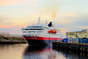 Arriving in Port at last light. (Nezgsy) Tags: norwaylondon2017 norway hurtigruten kongharold harbour port ship yellowsky lastlight calm colours