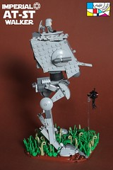 All Terrain Scout Transport 05 (Pablo Piccasos) Tags: lego star wars all terrain scout transport atst chicken walker imperial galactic empire probe battlefront ii