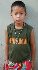 police boy (the foreign photographer - ฝรั่งถ่) Tags: police boy amulet khlong thanon portraits bangkhen bangkok thailand canon