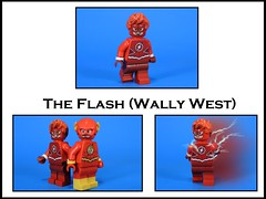 The Flash: Wally West (Metarix (MrKjito)) Tags: lego minifig custom decal wally west flash rebirth dc comics comic titans speed force kid side kick