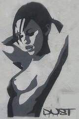 Let it be (Marco Braun) Tags: frau femme woman sex schwarz weiss noire blanche nackt nue naked erotik erotic kunst art streetart urbanart wallart young jung jeune stencil schablone pochoire