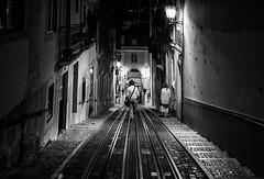 Lisbon by night (ThorstenKoch) Tags: street streetphotography stadt strasse schatten shadow schwarzweiss summer licht lights lines linien light lissabon lisboa lisbon pov photography people photographer picture pattern portugal place dark night monochrome blackwhite bnw fuji fujifilm xt10 thorstenkoch
