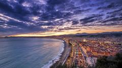 Nice - Sunset (Alex Lud) Tags: alexlud nice france frenchriviera bluehour sea city light méditerranée mediterranean urban clouds sky sunset 06 paca promenadedesanglais alpesmaritimes