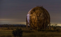 Abandoned Space Ship (lefturn99) Tags: space ship route 66 rt rte oil field pressure vessel night led