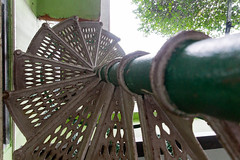 Spiraling up (Stephen T Slater) Tags: 2017 dlsingha gangtok handicraftshandloommuseum india sikkim spiralstaircase stairs