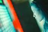 Drifting (Jon Siegel) Tags: nikon fe2 film iso800 filmcamera nikonfe2 50mm 12 50mmf12 woman beauty beautiful chinese singapore singaporean neon led light futuristic ghostintheshell wongkarwai
