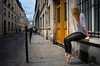 Slices of life (Fiona Blair) Tags: city paris street ballerina door mysterious storm atmosphere girl dance ballet