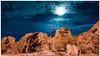 Mondlicht in Lovran (Ralph Punkenhofer) Tags: kroatien lovran lungomare herbst istrien november mondlicht moonlight bluehour blonde wife felsen rocks croatia adria landschaft landscape landscapephotography landschaftsfotografie
