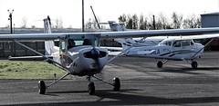 G-PTTB CESSNA 152 & G-NALA CESSNA 172 NEWCASTLE (toowoomba surfer) Tags: aircraft aviation aeroplane lightaircraft ncl egnt